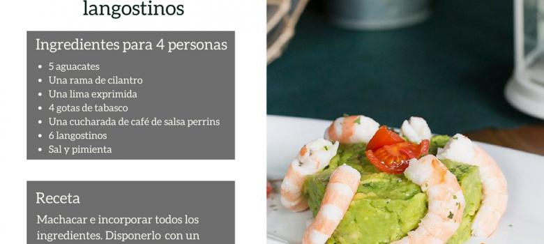 Receta pitusera: Tartar de aguacate y langostinos